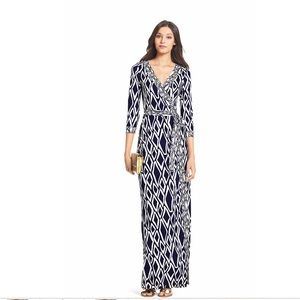 Diane von Furstenberg Banded Julian Long Dress